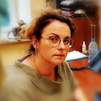 Anna Jastrzębska-Pawlak przy pracy